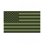 American Olive Green Subdued Flag Decal USA Drab OD Vinyl Sticker (RH)