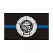 Minnesota State Flag Thin Blue Line MN Police Officer Sheriff Sticker Decal