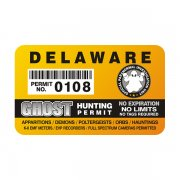"Delaware Ghost Hunting Permit 4"" Sticker Decal"