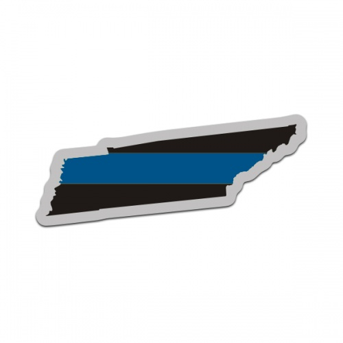 Tennessee State Thin Blue Line Decal TN Police Sheriff Vinyl Sticker