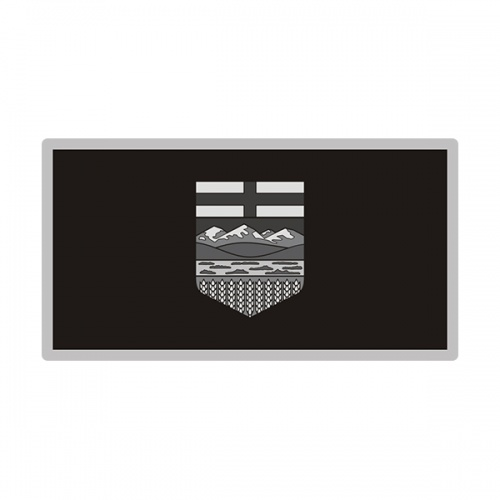 Alberta Sticker Decal Vinyl Provincial Subdued Gray Black Flag AB V3