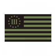 3 Percenter Olive Green/Black Subdued Flag Decal Vinyl Sticker (R)