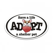 Save a Life Adopt a Homeless Shelter Dog Puppy Decal SPCA Vinyl Sticker