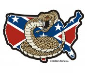 Rebel Confederate Flag USA Map Don't Tread on Me Sticker Decal