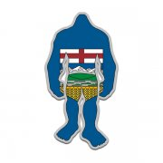 Alberta Flag Bigfoot Decal AB Sasquatch Big Foot Sticker