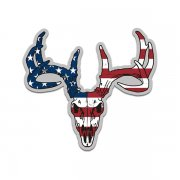 Deer Skull American Flag USA Sticker Decal