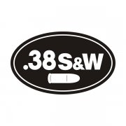 .38 S&W Ammo Can Sticker Decal