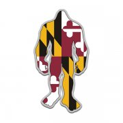 Maryland State Flag Bigfoot Decal MD Sasquatch Big Foot Sticker