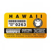 "Hawaii Ghost Hunting Permit 4"" Sticker Decal"