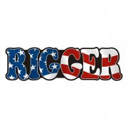 Rigger Decal American Flag USA United States Vinyl Hard Hat Sticker
