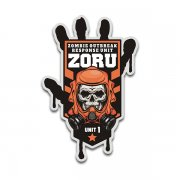 ZORU Zombie Outbreak Response Unit Vinyl Sticker Decal Orange