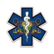 Pennsylvania State Flag Star of Life PA EMT Paramedic EMS Sticker Decal