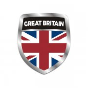 Britain Union Jack Flag Shield Badge Sticker Decal