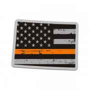 Colorado State Thin Orange Line Decal CO Tattered American Flag Sticker