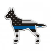 K9 Belgian Malinois Thin Blue Line American Flag Police Dog Sticker Decal