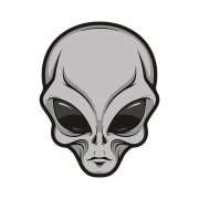 Alien Gray Extraterrestrial Area 51 Roswell Sci Fi Vinyl Sticker Decal V3