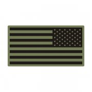 American Green Black OD Olive Subdued Flag Army Decal Sticker (LH) V3