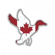Duck Waterfowl Canadian Flag Canada Sticker Decal (RH)