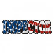 Inspector Decal American Flag USA United States Vinyl Hard Hat Sticker