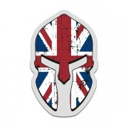 British Union Jack Flag Spartan Helmet Decal Great Britain UK Sticker