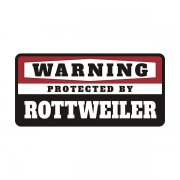 Rottweiler Protected by Warning Decal Guard Dog Vinyl Window Sticker