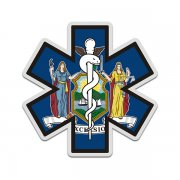 New York State Flag Star of Life NY EMT Paramedic EMS Sticker Decal