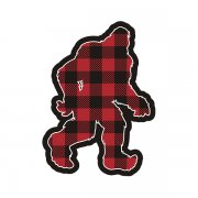 Bigfoot Sasquatch Lumberjack Plaid Woodland Sticker Decal (RH)