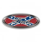 Ford Rebel Flag Oval Confederate Sticker Decal