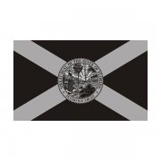 Florida State Subdued Flag Black/Gray Decal FL Vinyl Sticker