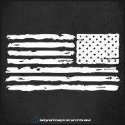 "American Distressed US Flag Decal 6""x3"" Jeep Wrangler TJ YJ JK JL Sticker (LH)"