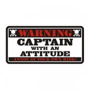 Captain Warning Decal Fisherman Ship Boat Vinyl Window Bumper Sticker