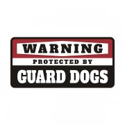 Guard Dogs Protected by Warning Decal Dog Vinyl Window Bumper Sticker