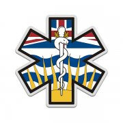 British Columbia Flag Star of Life BC EMT Paramedic EMS Sticker Decal