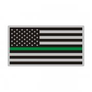 Thin Green Line American Subdued Flag USA Decal Sticker (RH) V3