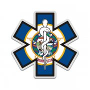 Minnesota State Flag Star of Life MN EMT Paramedic EMS Sticker Decal