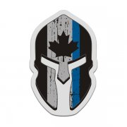 Canada Flag Thin Blue Line Spartan Helmet Decal Canadian Police Sticker