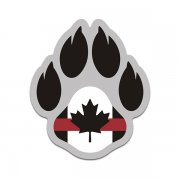 K-9 Paw Canada Flag Thin Red Line Arson Detection K9 Unit Sticker Decal V2