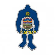 Kansas State Flag Bigfoot Decal KS Sasquatch Big Foot Sticker