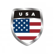 American Flag Shield Badge Sticker Decal