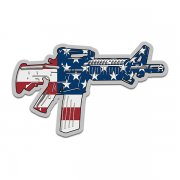AR-15 American Flag Machine Gun Firearm Decal Patriot Sticker (RH)