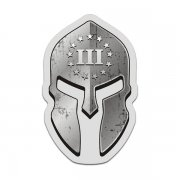 3 Three Percenter Spartan Helmet Decal American Patriot Sticker V2