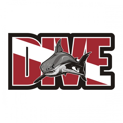 Dive Great White Shark Sticker Decal