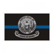 Idaho State Flag Thin Blue Line ID Police Officer Sheriff Sticker Decal