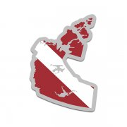 Northwest Territories Province Shaped Dive Flag Decal NT Map Vinyl Sticker