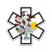 Illinois State Flag Star of Life IL EMT Paramedic EMS Sticker Decal