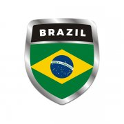 Brazil Flag Shield Badge Sticker Decal