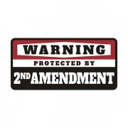 2nd Amendment Protected by Decal Molon Labe 2A Vinyl Sticker