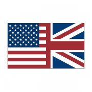 American British Flag Decal USA Union Jack UK Britain Vinyl Sticker
