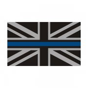 Thin Blue Line British Union Jack Subdued Flag Sticker Decal