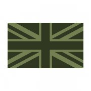 Britain Union Jack Olive Green Subdued Flag Decal OD British Sticker